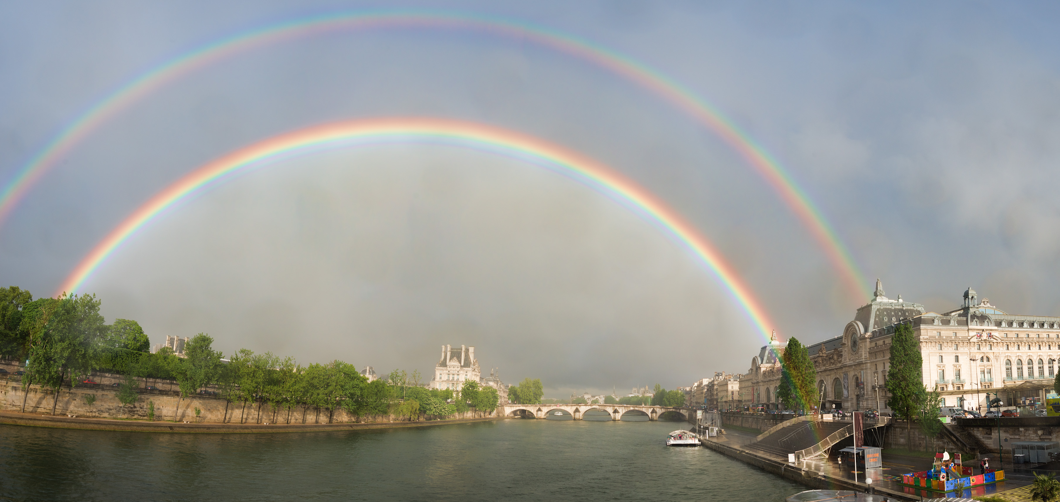 Double Rainbow Pano over Paris © Harold Davis
